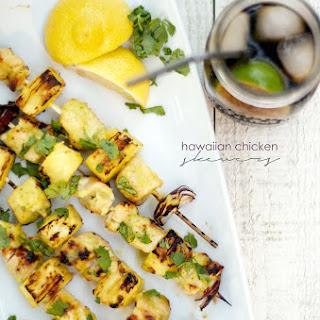 Hawaiian Pineapple Glazed Chicken Skewers