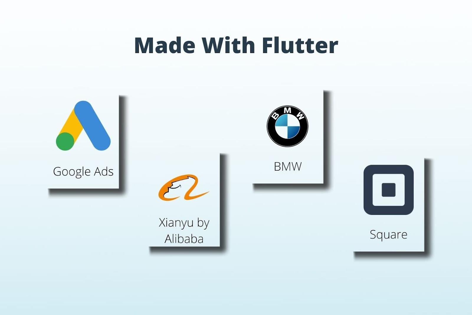 Popular apps built with Flutter