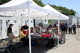 Photo: Rescue Personnel prepare to demonstrate tools and techniques