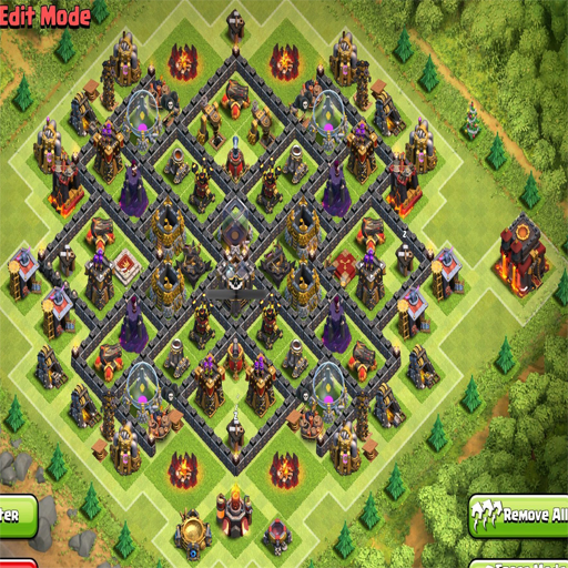 Town Hall 9 War Base Layout