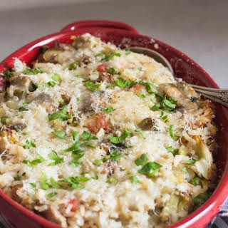 Italian Sausage and Vegetable Rice Casserole.