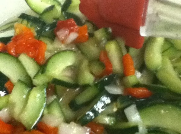 Pour vinaigrette over the veggies and allow to marinate 15-30 minutes.Then add the the...