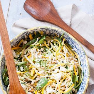 Raw Zucchini and Feta Salad.