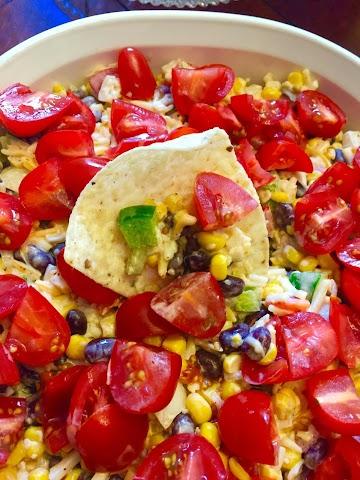 Cheesy Corn & Black Bean Dip Recipe