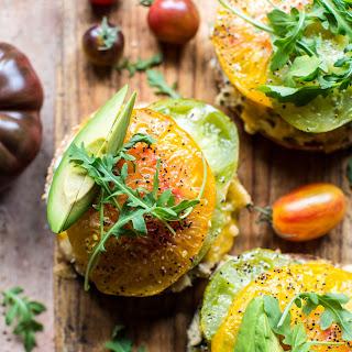 Avocado Tuna Bagel Melts.