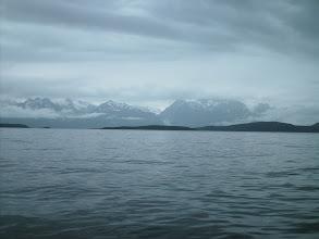 Photo: Taisani, Anyaka, Shikosi Islands with the Chilkat Mountains in the distance.