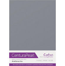 Crafters Companion Centura Pearl Card Pack A4 10Pkg 300gr - Anthracite