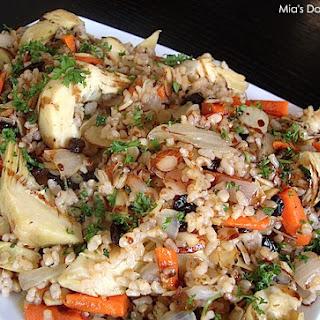 Artichoke Brown Rice Salad (Vegan and Gluten Free).