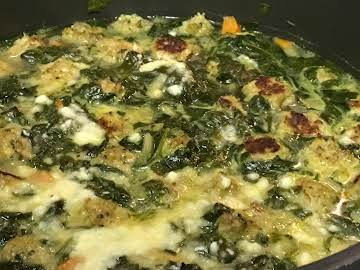 Italian Wedding Soup / with chicken meatballs