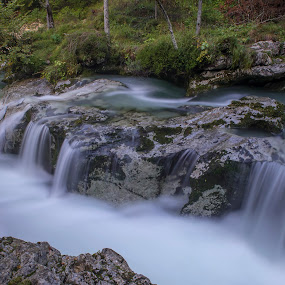 Mostnica Gorge. by Mark Per - Nature Up Close Water ( water, gorge, waterfall, slovenia, bohinj )