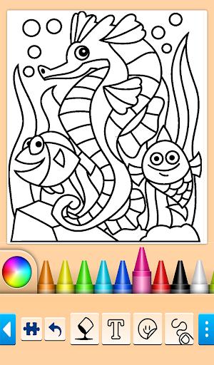 Dolphin and fish coloring book 14.0.4 screenshots 2