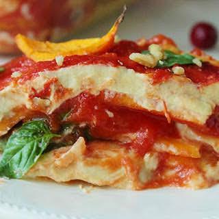 """Lasagna with Butternut Noodles and """"Part-Skim"""" Cashew-Cauliflower Ricotta [Vegan, Gluten-Free]."""