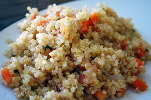 Vegan Quinoa Pilaf Side Dish Served Chilled Recipe