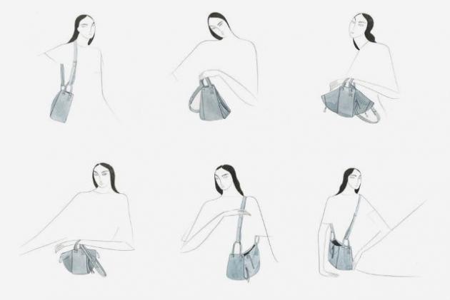 6WAYで楽しめる♪ LOEWEの新アイコン「ハンモック バッグ」でコーデを自由に彩って | TRILL【トリル】