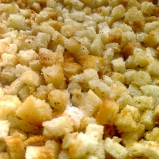 Instant Garlic Croutons