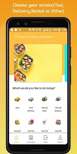 Hwindi – Book Taxi, Order Food & Delivery Services APK 2