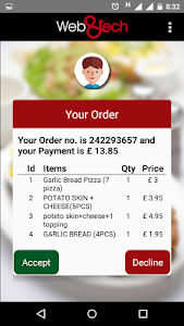 Restaurant Order Management screenshot 1