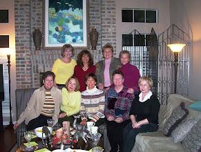 Photo: Christmas 2008 at home of Kathi Hessen. Carol (Craven) Barnes, Barbara (Novosad) Stueve, Linda (Wilson) Mitchell, Mary (Traud) Austin, Melinda (Wright) Young, Kathi (Hesson) Curtis, Sandy (Wilson) Jung, Rita (Leeper) Sholund, Suzy (Wright) Thomas