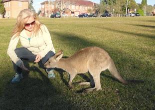 Photo: Carol was a bit scared.