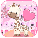 Lovely Baby Giraffe Keyboard Theme icon