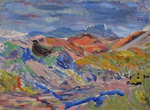Photo: Uden titel, udateret, olie på lærred, 50 x 67 cm.
