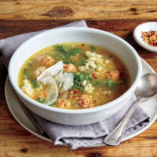 Italian Wedding Risotto Soup