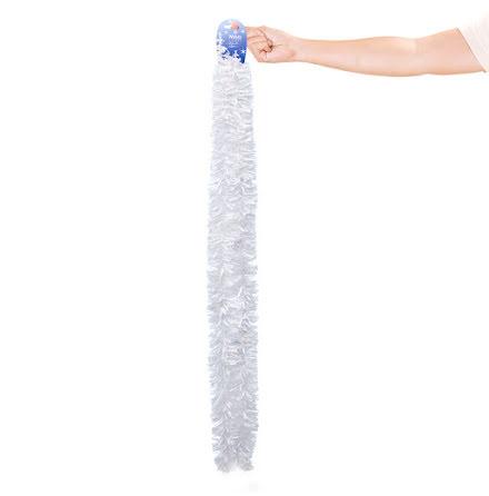 Glittergirlang, vit 75 mm 2 m