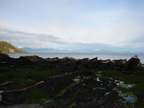 Photo: The view looking south across Chatham Sound from my campsite on Kanagunut Island at the southern end of Lincoln Channel.