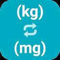 Kilograms to Milligrams icon