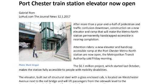 Port Chester train station elevator now open.pdf