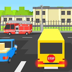 School Bus Blocky for PC and MAC