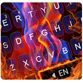 Flaming Fire Keyboard Theme