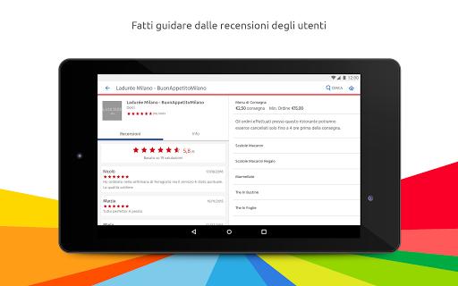 Just Eat - Ordina pranzo e cena a Domicilio Appar (APK) gratis nedladdning för Android/PC/Windows screenshot