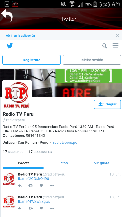 Radio Tv Peru- screenshot