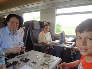 Photo: Playing Magic on the train from Milan to Verona