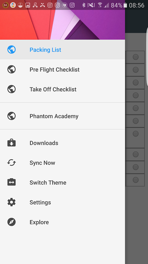 DJI Pre Flight Checklist- screenshot