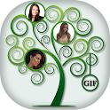 Tree Collage GIF Photo Frame icon