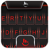 Red Black Metal Blood Keyboard Theme