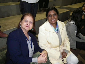 Photo: Sharon and Beulah (Shekhar's wife) hit it off like a house on fire!