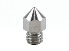 Micro Swiss Plated Brass Wear Resistant Mk8 Nozzle - 1.75mm x 0.40mm
