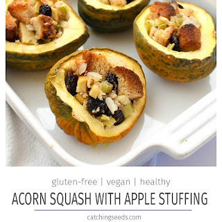 Acorn Squash with Sage Apple Stuffing