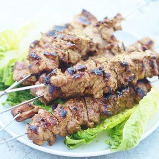 Greek Style Lamb Kebabs (Souvlaki).