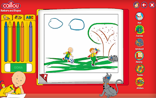 Screenshot of Caillou learning for kids