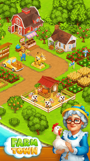 Farm Town: Happy village near small city and town  screenshots 11