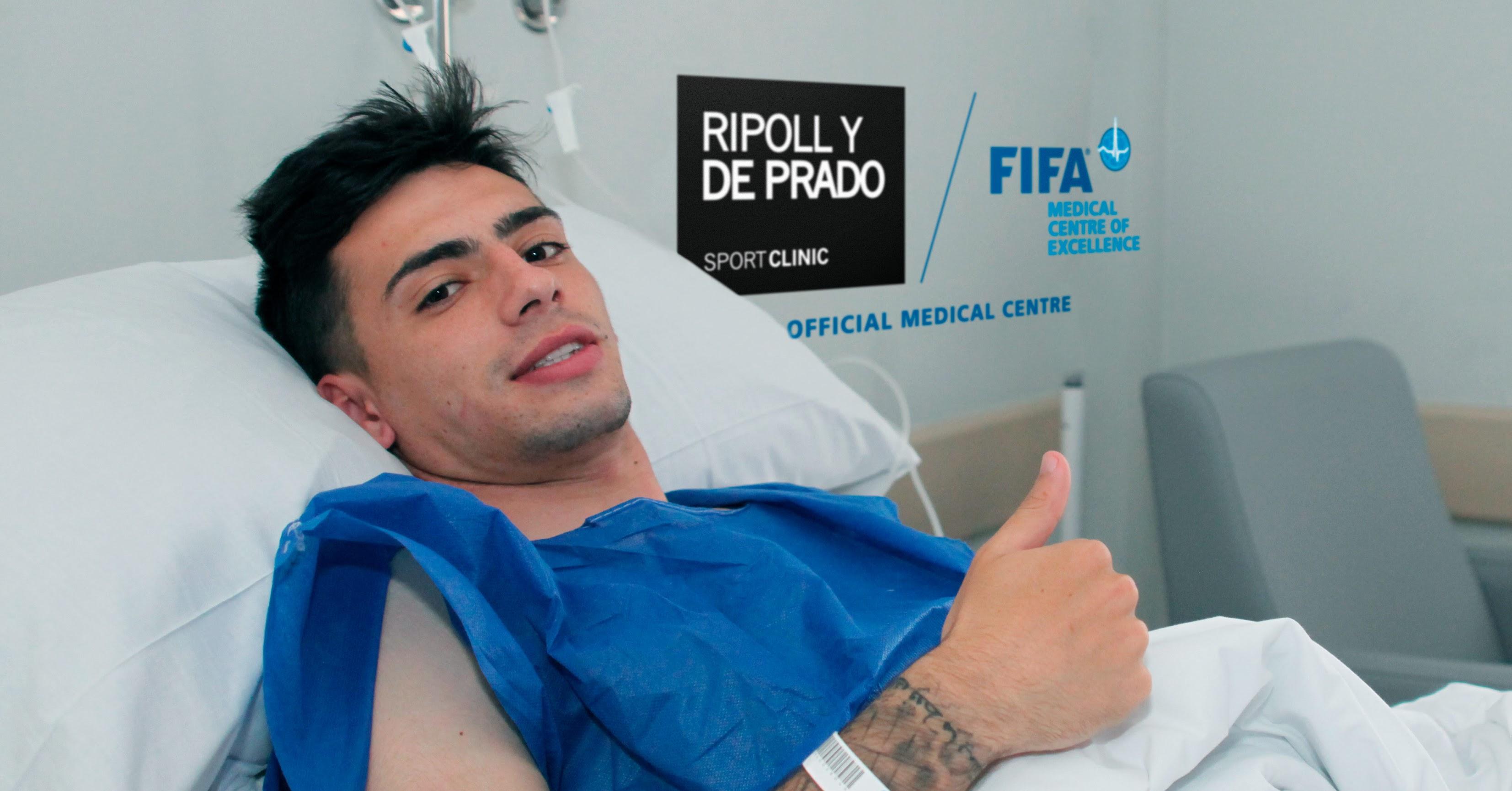 Gaspar Panadero después de la operación.