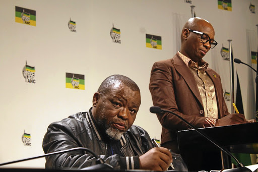 THE HEAT IS ON ANC secretary-general Gwede Mantashe and party spokesman Zizi Kodwa brief the media on current ANC thinking.