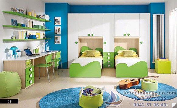 thiết kế phòng ngủ bé trai luôn ấm áp