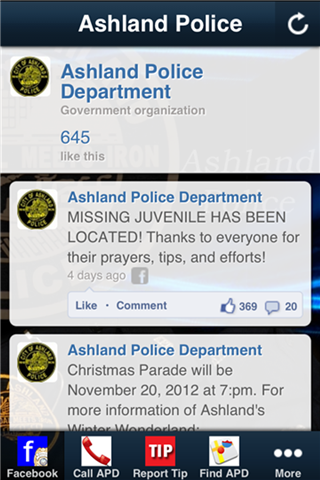 Ashland PD- screenshot