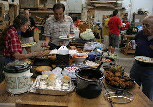 Photo: ... pot luck food that was plentiful, varied, and delicious, ...