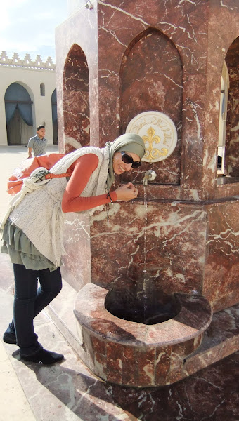 """Photo: This is where """"Wudu"""" is performed, the Islamic procedure for washing parts of the body using water in preparation for formal prayers. More info here: http://en.wikipedia.org/wiki/Wudu"""